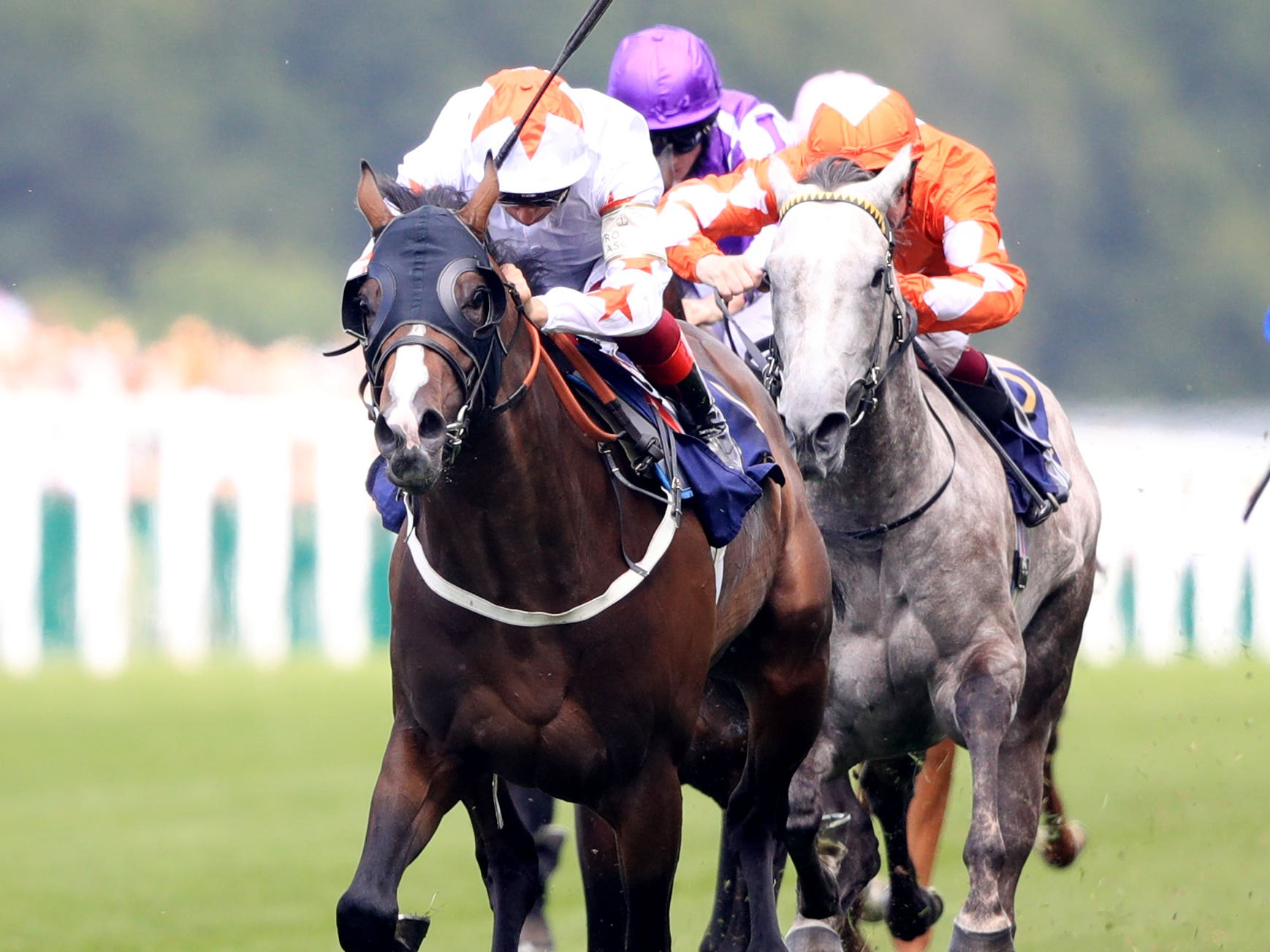 Forever In Dreams (orange colours) was just denied in the Commonwealth Cup at Royal Ascot last year (Adam Davy/PA)