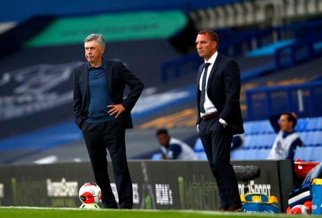 Carlo Ancelotti (left) has his sights set on a Europa League spot