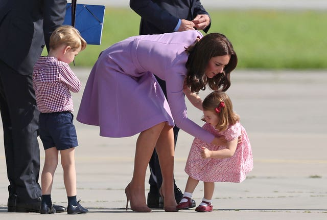 Princess Charlotte's protest during a visit to Airbus in Hamburg, Germany (Jane Barlow/PA)