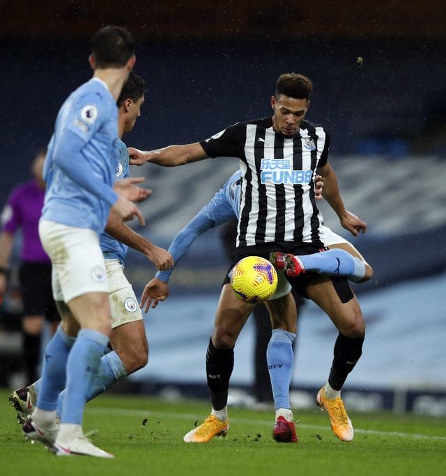 Bruce felt Newcastle showed some spirit in defeat at Manchester City