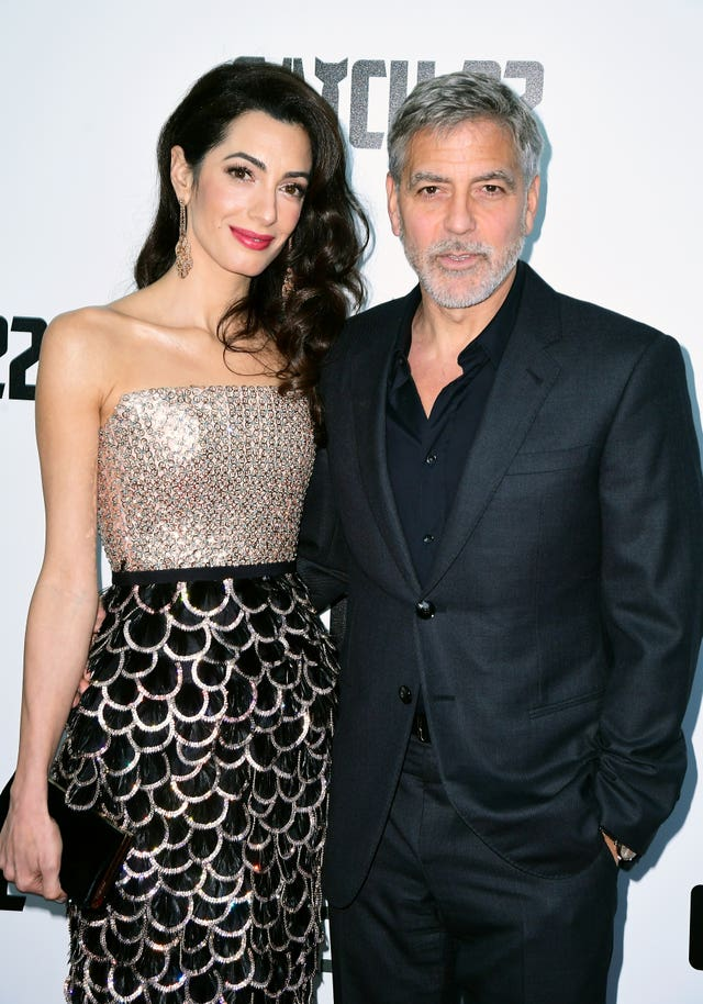Amal Clooney (left) and George Clooney