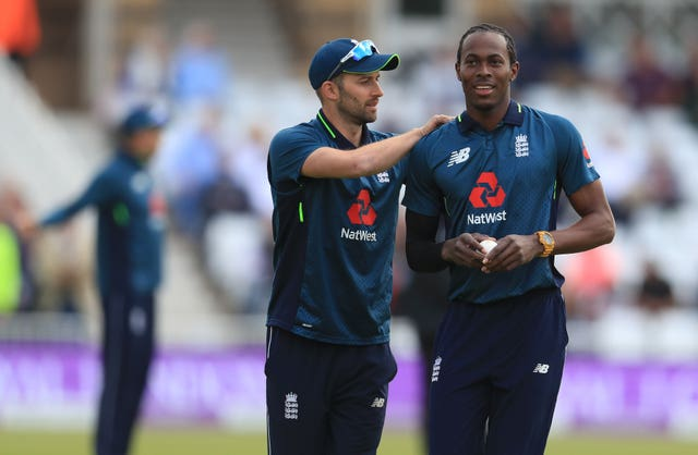 Wood (left) and Jofra Archer (right) have a friendly rivalry.