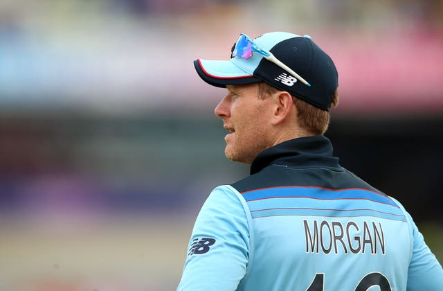 Eoin Morgan was let down by his bowlers at Lord's (Nigel French/PA)