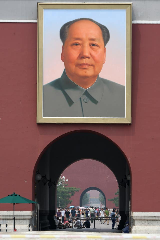 A portrait of Mao Zedong