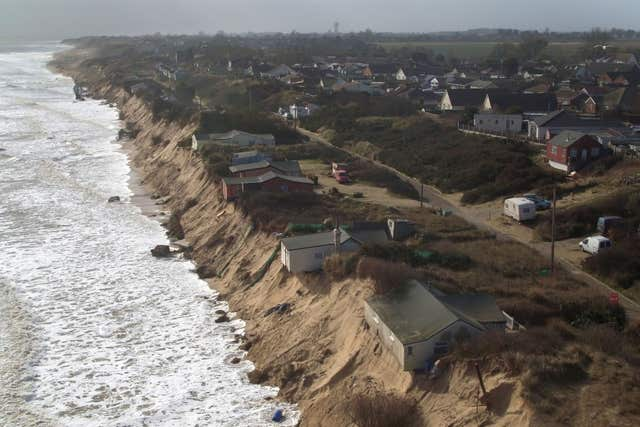 Coastal erosion in Norfolk