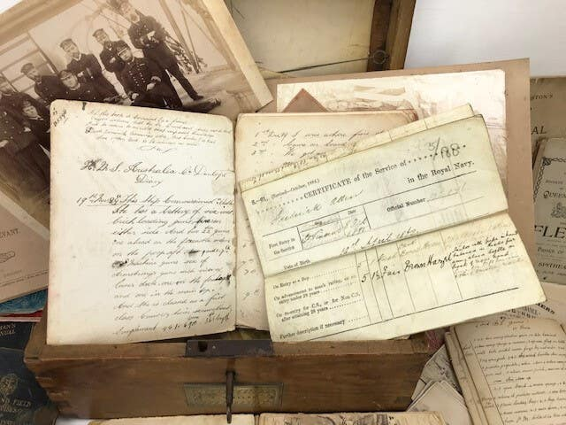 Journals found at flea market up for auction