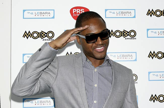 Taio Cruz arriving for the 2009 MOBO awards in Glasgow