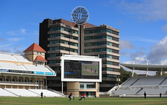 A 100-ball trial match at Trent Bridge, Nottingham