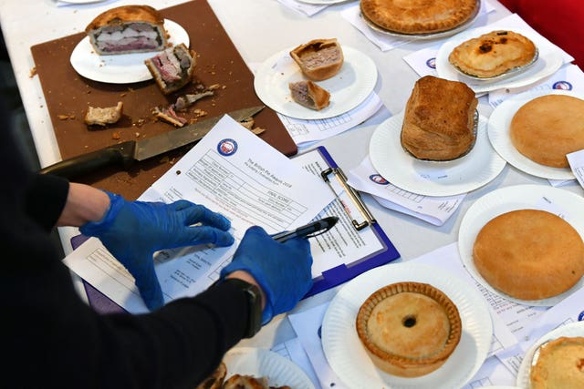 Several varieties are in the running for top pie (Joe Giddens/PA)