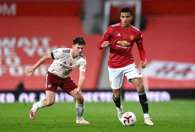 Mason Greenwood has played eight times for Manchester United this season, scoring twice