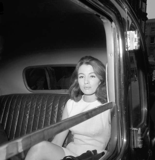 Christine Keeler who was first spotted by John Profumo at Cliveden House (PA)