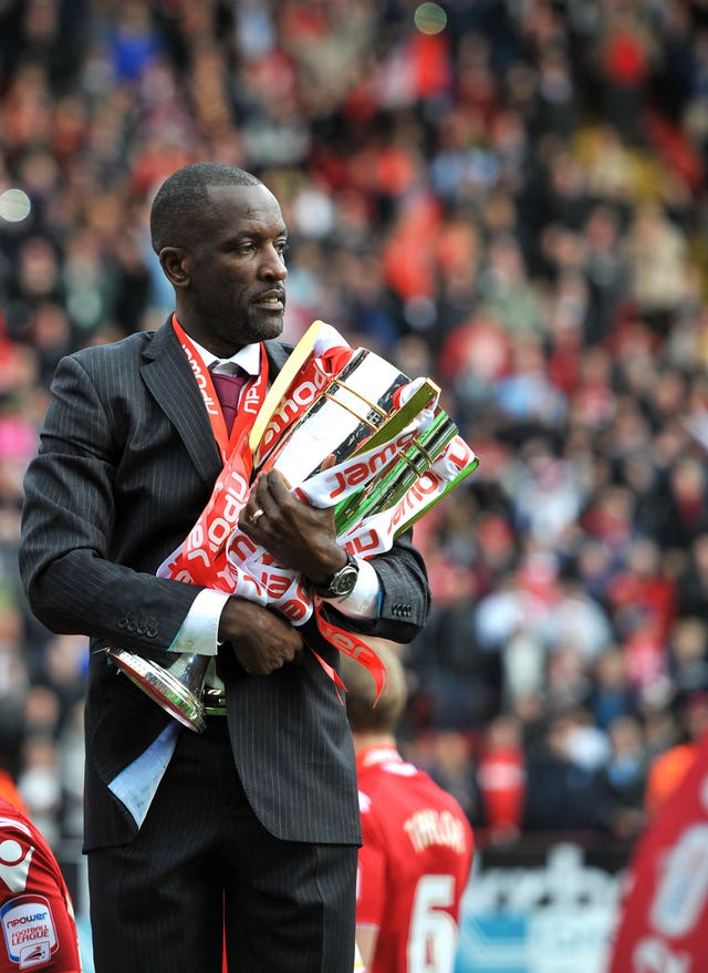 Chris Powell with the League One trophy in 2012