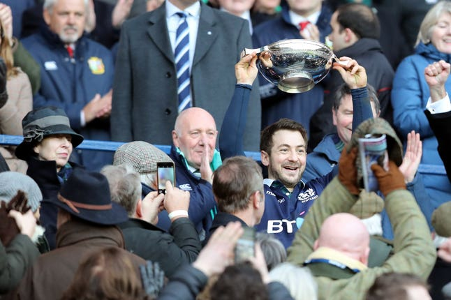 Greig Laidlaw kicked Scotland to victory in 2017