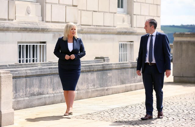 Michelle O'Neill and Paul Givan