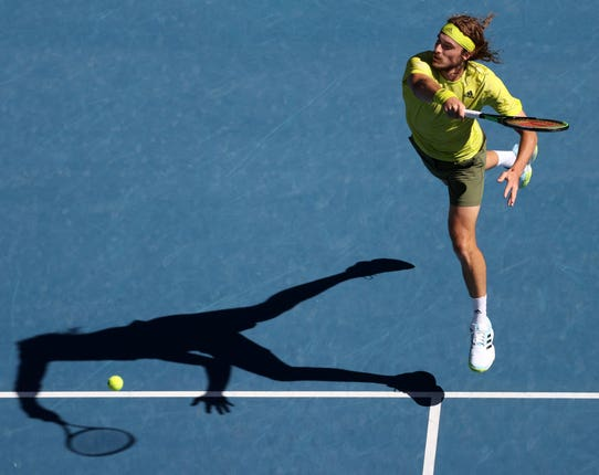 Stefanos Tsitsipas dropped just six games against Mikael Ymer