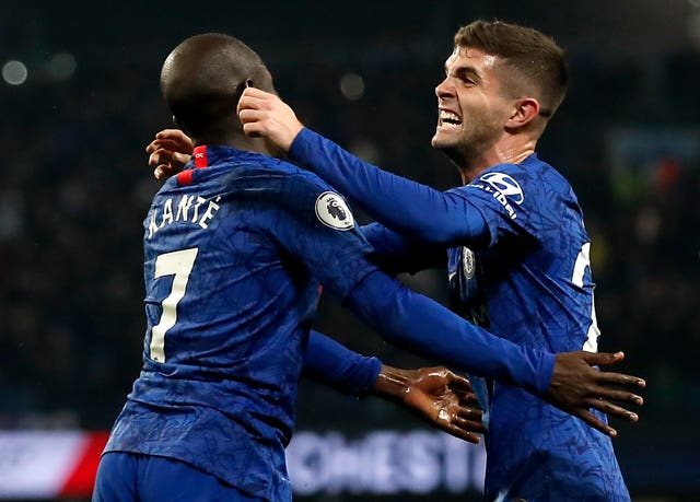 Chelsea fought hard and took the lead through N'Golo Kante (left)