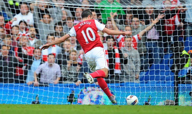 Robin van Persie scored a hat-trick as Arsenal won 5-3 at Chelsea in the 2011/12 Premier League campaign.