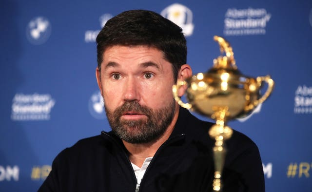 European Ryder Cup captain Padraig Harrington is looking ahead