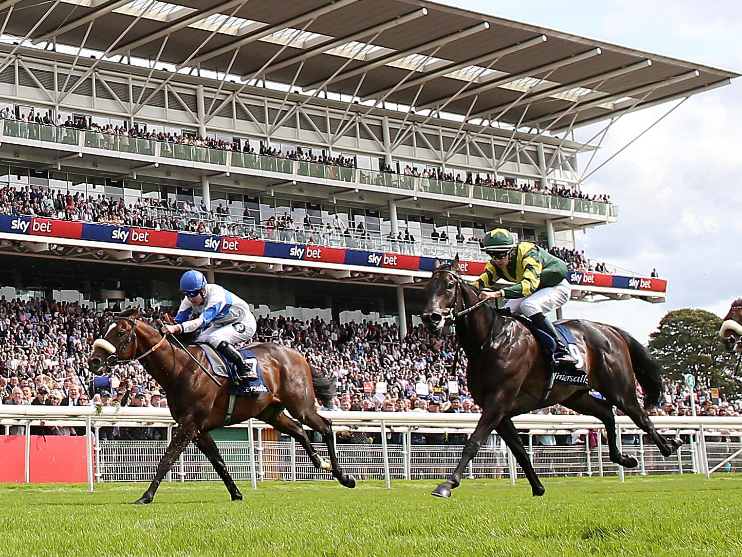 Ropey Guest (left) finished third in the Acomb at York (Nigel French/PA)