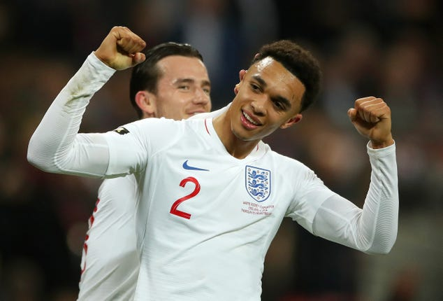 Trent Alexander-Arnold will be looking to establish himself as England's first-choice right-back.