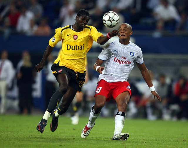 Kompany, right, in action for Hamburg
