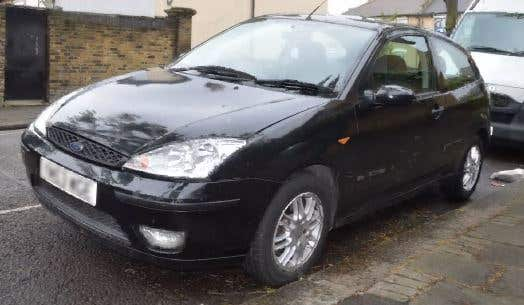 Handout photo of Umar Haque's Ford Focus which was shown to the court (Metropolitan Police/PA)