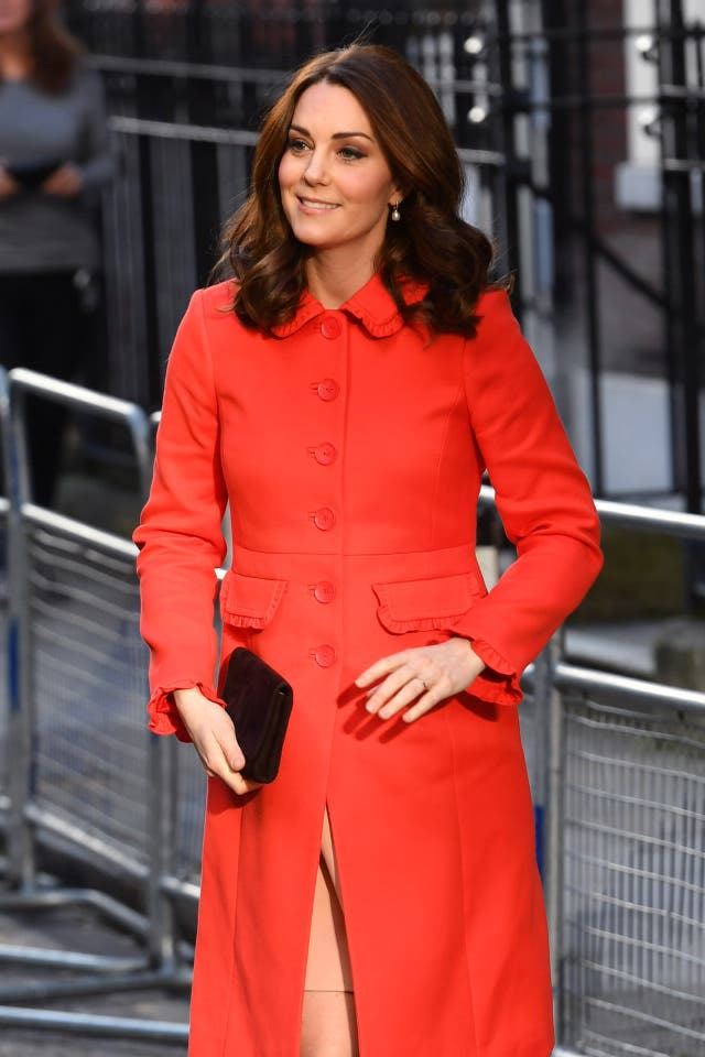 Kate wore a red coat by Boden (John Stillwell/PA)
