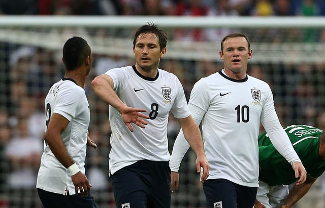 England's Frank Lampard celebrates scoring the equaliser against Ireland