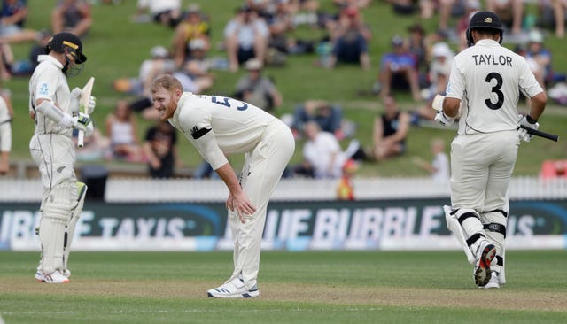 Ben Stokes in action on day one