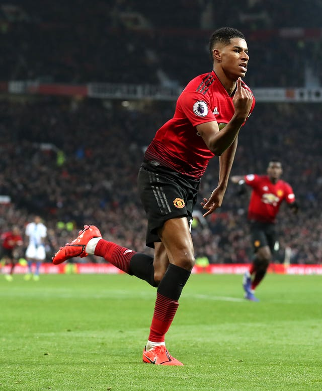 Marcus Rashford scored for a fourth game in a row as Manchester United beat Brighton