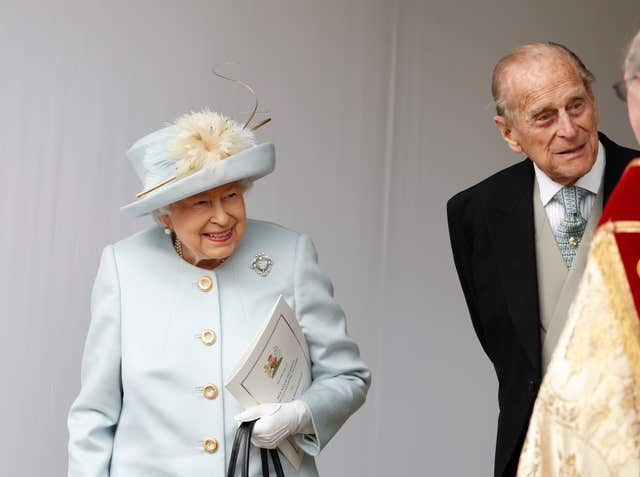 The Queen and the duke at Princess's Eugenie's wedding