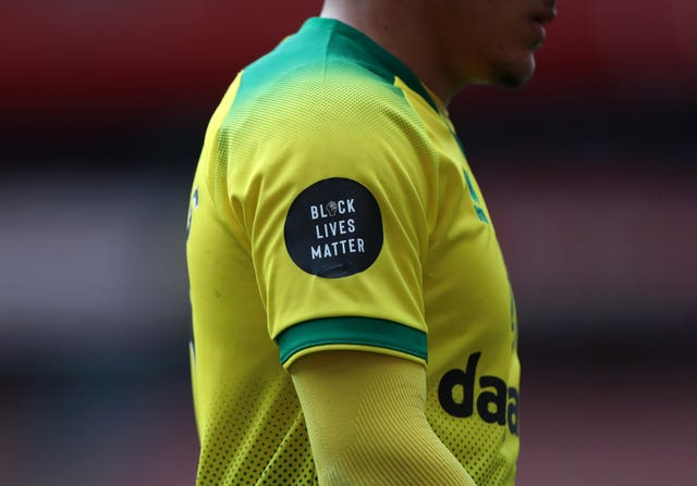 The shirts of Premier League players have carried the Black Lives Matter slogan