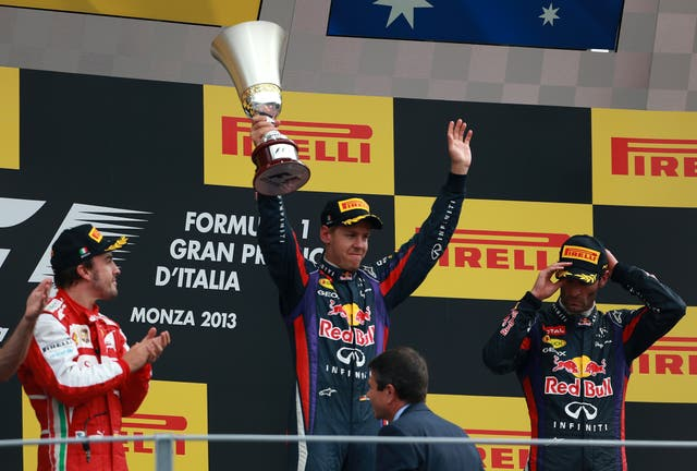Vettel won four world titles with Red Bull (David Davies/PA)