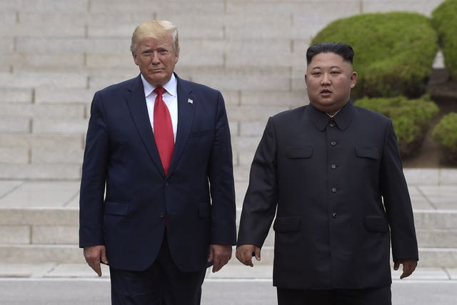 US President Donald Trump with North Korean leader Kim Jong Un