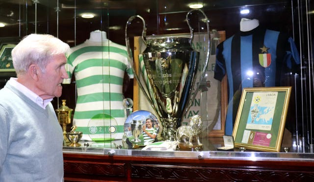 Bertie Auld paid his respects at Celtic Park