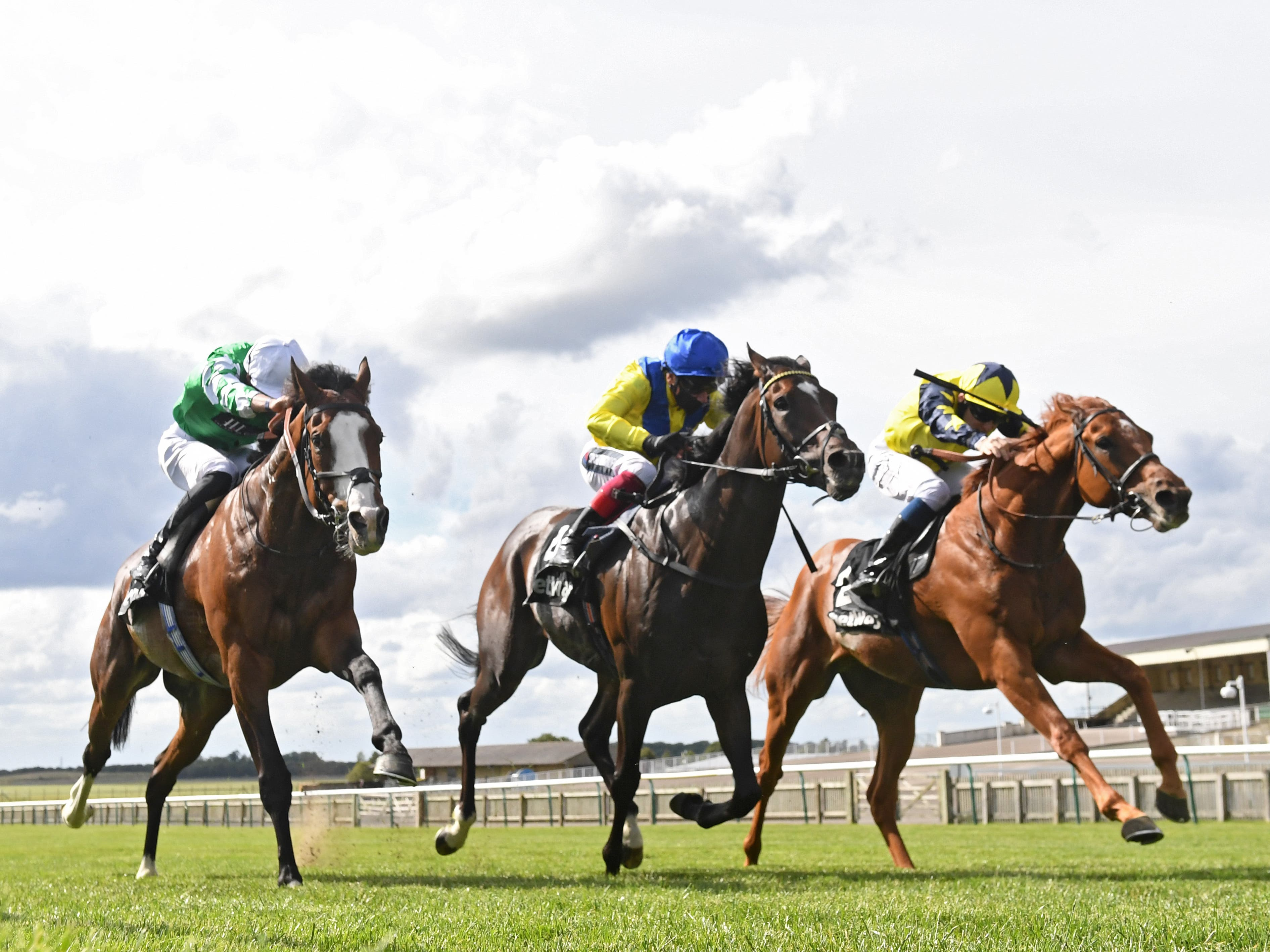 Universal Order (right) got the best of tight finish at Newmarket (George Selwyn/PA)