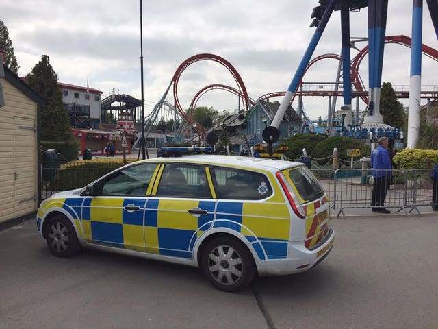A police vehicle at Drayton Manor Theme Park