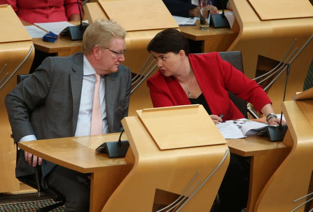 Scottish Conservative MSPs Jackson Carlaw (left) and Ruth Davidson