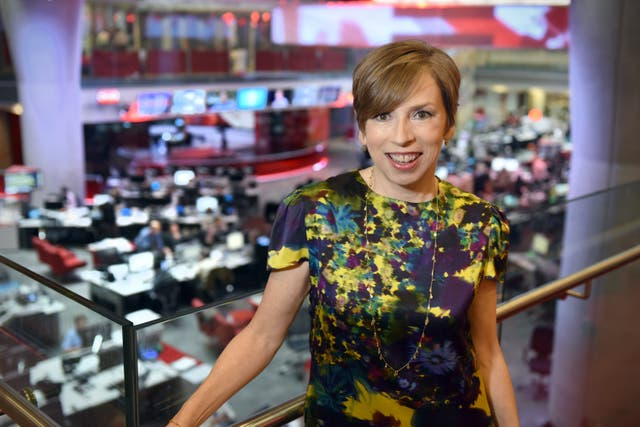 Fran Unsworth (Jeff Overs/BBC)