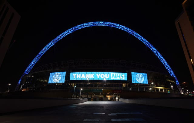Wembley thanks the hardworking NHS staff battling coronavirus