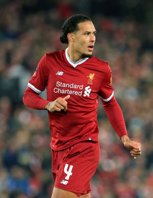 Virgil van Dijk scored on his Liverpool debut against Everton