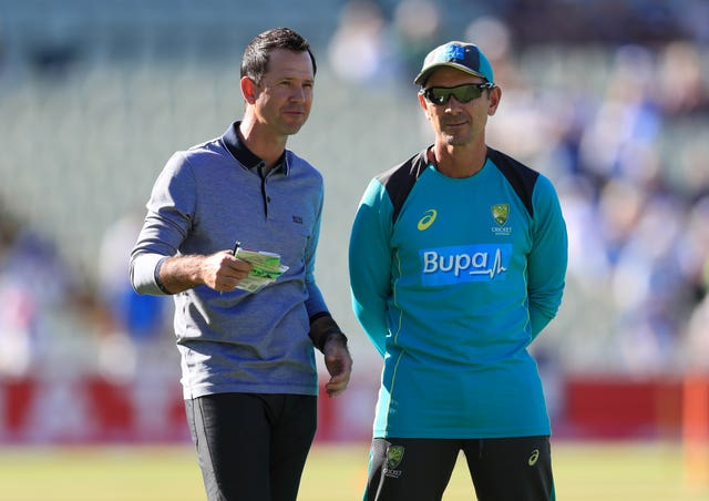 Ricky Ponting, left, is part of Justin Langer's coaching staff