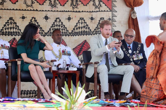 The Duke and Duchess of Sussex in Fiji