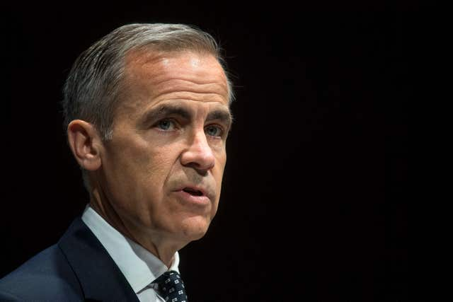 Mark Carney suggested a 'disorderly' Brexit transition could force an interest rate cut (Victoria Jones/PA)
