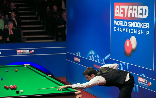 Ronnie O'Sullivan during the Betfred World Championships at the Crucible Theatre, Sheffield