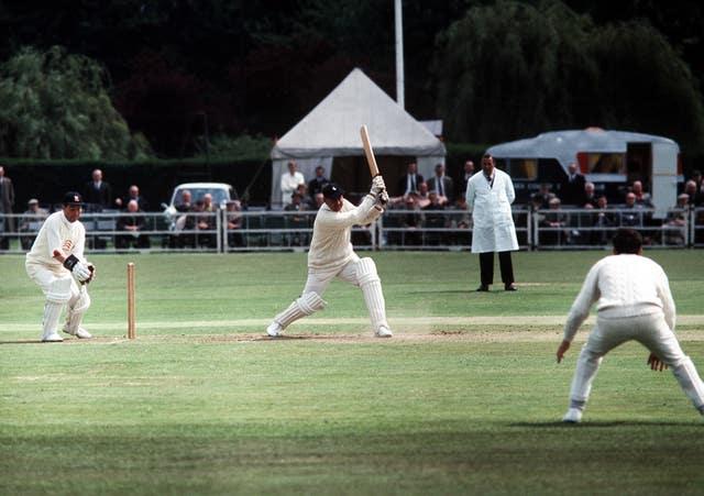 England batsman Colin Cowdrey in action for Kent