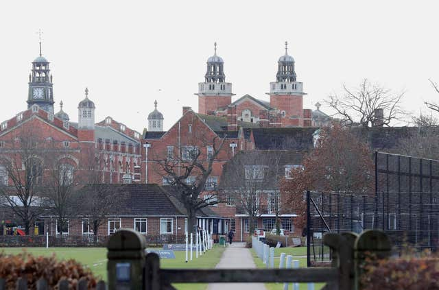 Christ's Hospital School in Horsham, West Sussex (Gareth Fuller/PA)