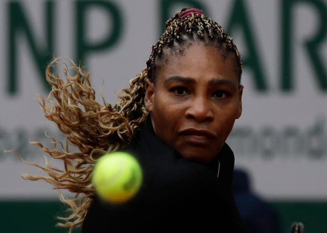 Serena Williams struggled during the first set of her clash with Kristie Ahn