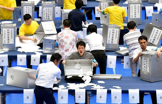 Vote-counting in Tokyo
