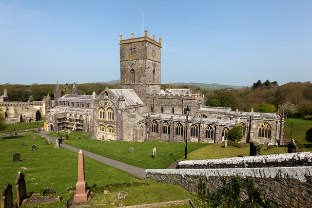 Tourists are being asked to stay away from attractions such as St Davids Cathedral in Pembrokeshire (David Davies/PA).